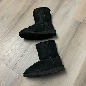 Black toddler UGG boots size 10